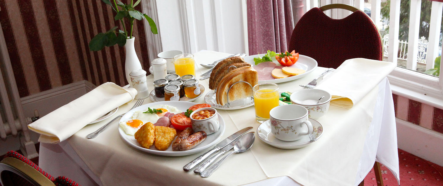 Breakfast, The Robin Hill Hotel, Torquay, Devon